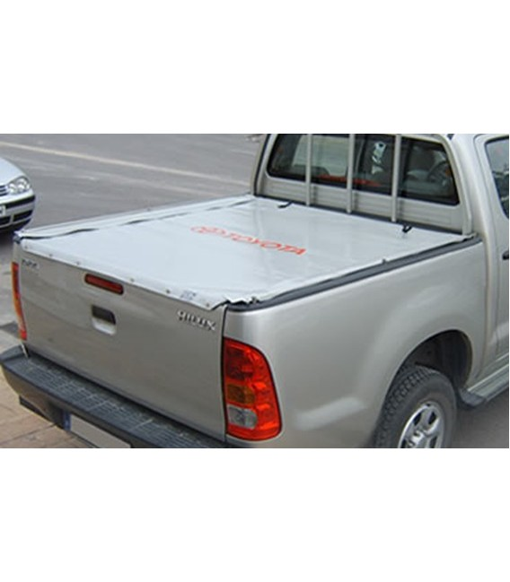 Toldo de lona plana de doble cabina para pick up mahindra goa for Lona repuesto toldo